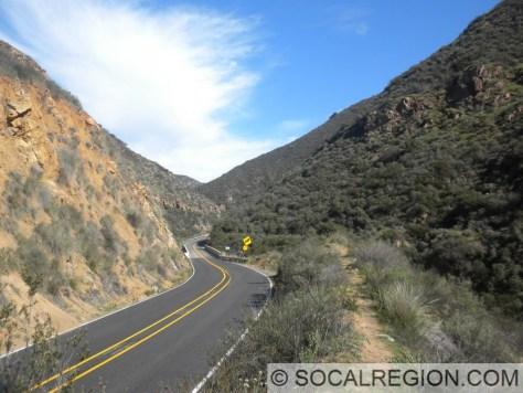 Narrows of San Juan Canyon approaching the bridge.