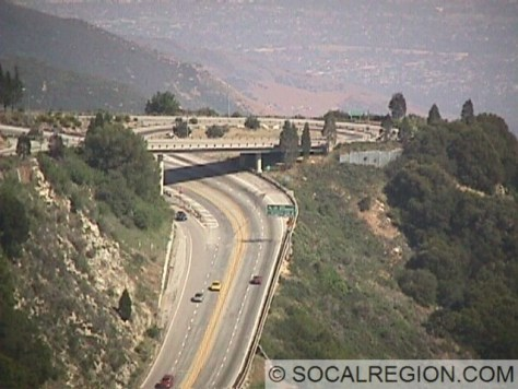"The ""Interchange in the Sky"" as I call it. This is the eastern end of SR-138. The four lane roadway is Hwy 18."