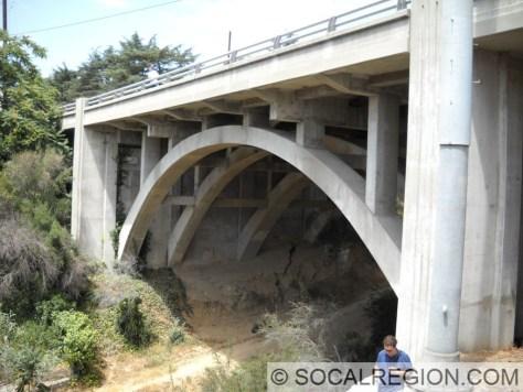 La Canada Arch Bridge. Built in 1929 and widened in 1966.