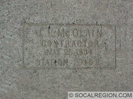 Contractors Stamp found along this road. Only two stamps exist on this stretch of concrete.