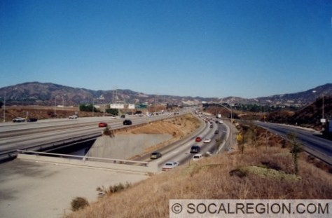 North end of the 405 at the 5. Truck lanes are at right.