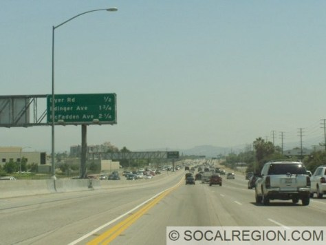 Just north of the 405, looking northbound.