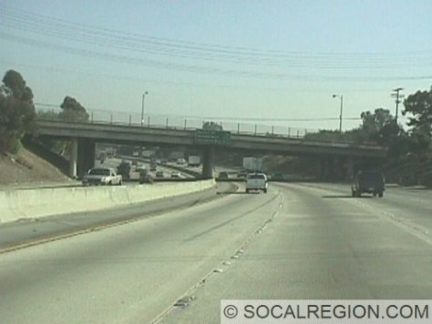 Freeway southbound near Sheldon Street in the San Fernando Valley. This section was completed in 1963.