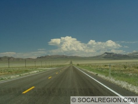 US 6 east of Tonopah. Wide open valleys and big mountains follow for the next few hundred miles.