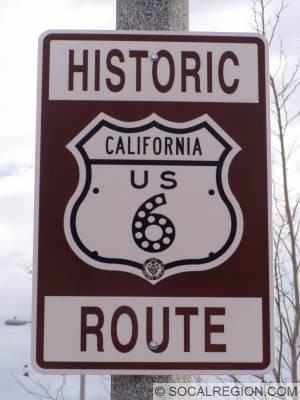 Through Palmdale and Lancaster, the highway is signed as a Historic Route.