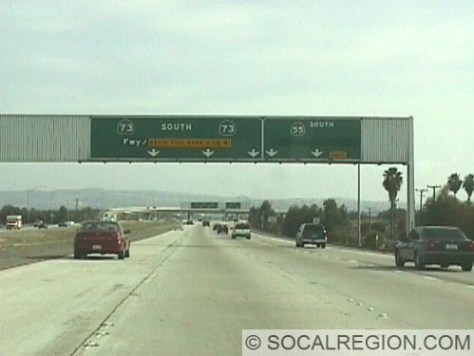 Southbound at the 55 Fwy.