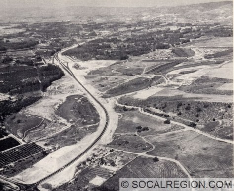 Aerial view of the Eastern section. Note the Kellogg Drive interchange at center. Courtesy - Caltrans (from CHPW magazine)