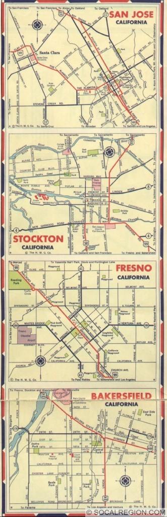 1939 Cities - San Jose, Stockton, Fresno, Bakersfield