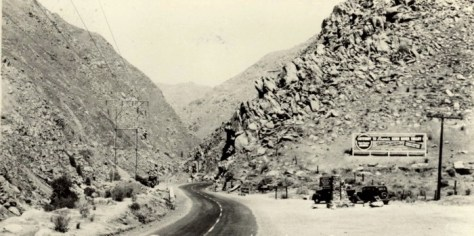 Mouth of the Kern River Canyon once paved in the 1940