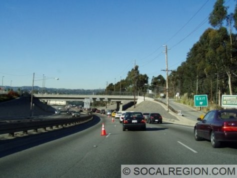 Grade Separation at the Kenneth Hahn Park Exit.