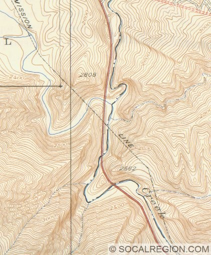 Topographic Map of Pyramid Rock and Vicinity from 1938. Pyramid Rock is in the bottom center of the map.