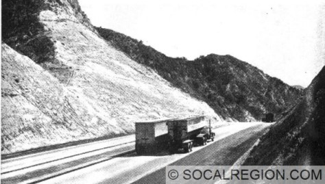 Weldon Summit in 1951. Looking South. Currently, the lanes visible exist but the concrete is buried under dirt and asphalt.