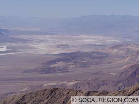 Artists Block and Furnace creek from Dante's View.