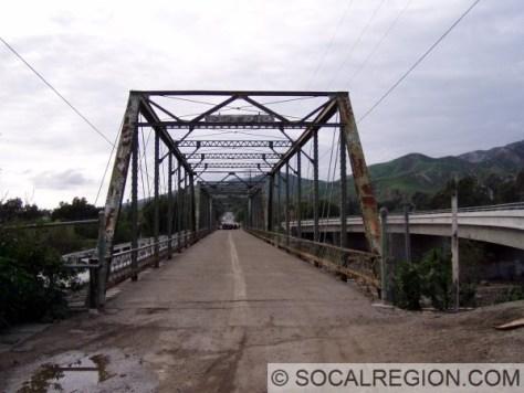Original Piru Creek Bridge in Piru. It was bypassed in 1940 and replaced in 1985.