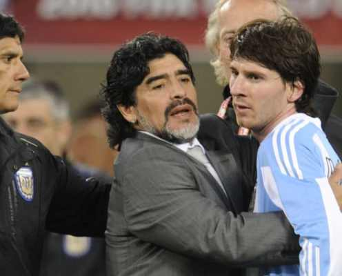 Diego Maradona Reveals the Shooting Advice He Gave to Lionel Messi at 2010 World Cup