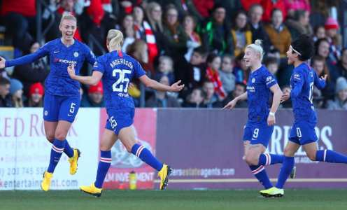 Sam Kerr Nets WSL First as Blues Go a Year Unbeaten With Staggering 4-1 Win at Title Rivals Arsenal