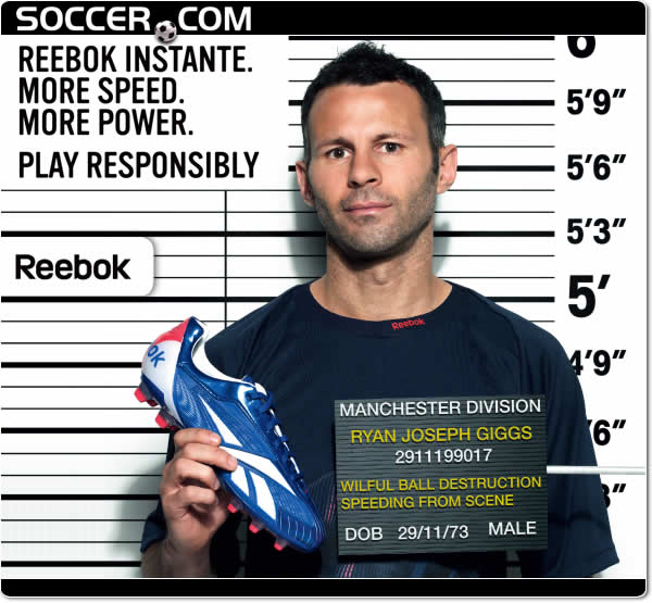 Ryan Giggs and Reebok