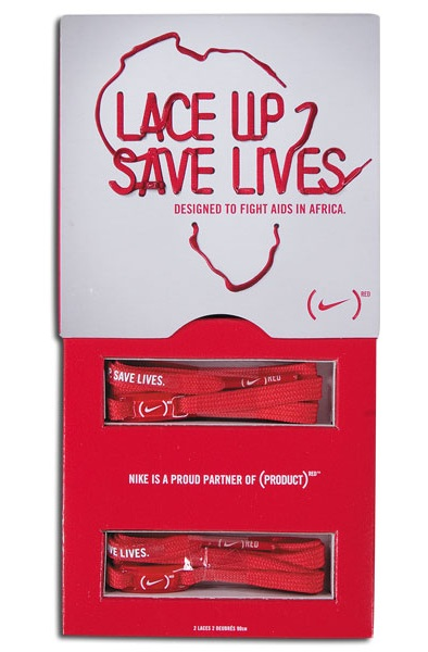 44f5a7826f91 Nike RED  Lace Up Save Lives  Campaign