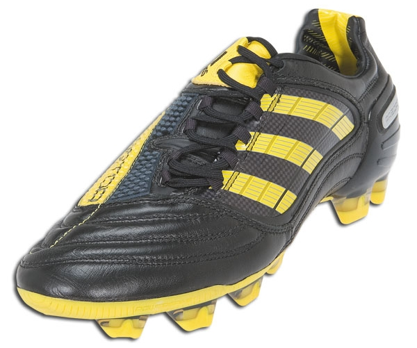 688db0d23 Adidas have just released a very unique new yellow-on-black line of cleats  highlighting their approach to this summer's World Cup.