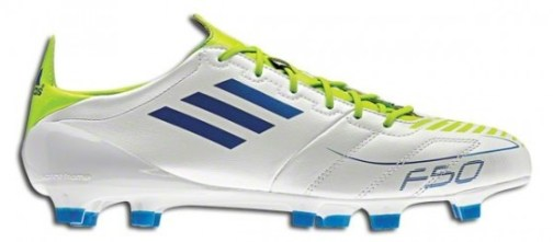 Leather adizero White Anodized Blue