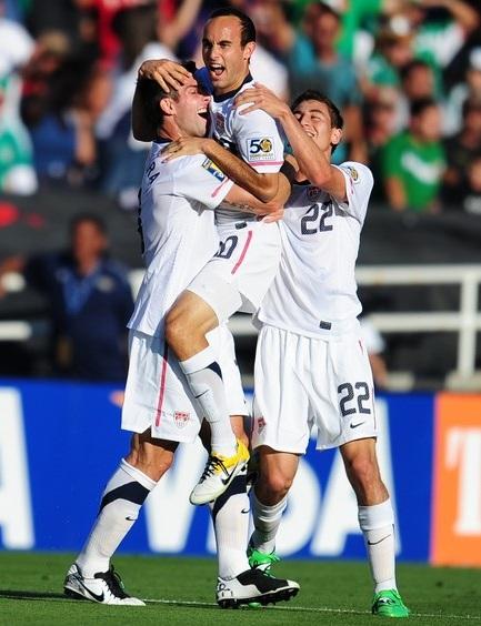 US Celebrate Donovans goal