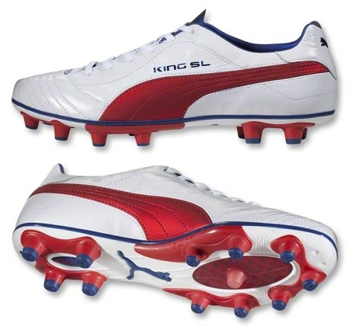 Puma King Finale SL White Red