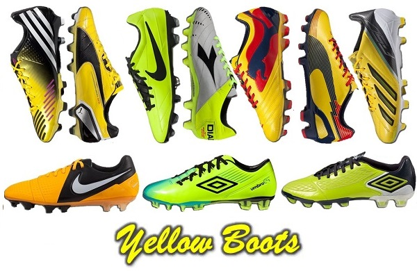 There have been several games recently where it seems like every player on  the pitch seems to be wearing Yellow boots. Companies seem to go through  trends ...