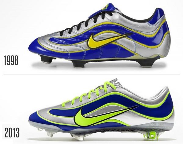 Nike Mercurial Vapor - 1998 versus IX