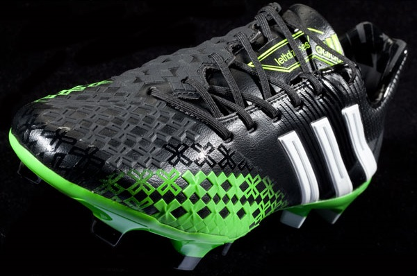 outlet store f17e0 999ec Adidas Predator LZ - Black Ray Green   Soccer Cleats 101
