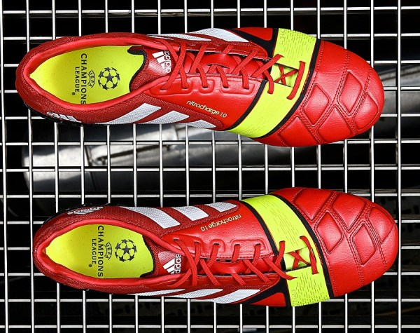 Overhead image of Adidas Nitrocharge 1.0 Red