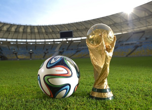 Brazuca with World Cup Trophy