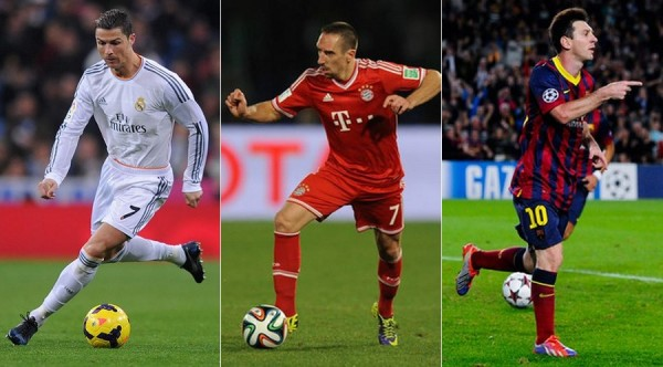 Ballon d'Or Ronaldo Ribery Messi
