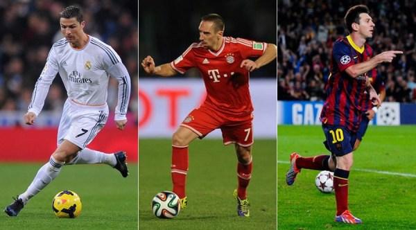 Ballon d'Or Ronaldo Ribery Messi