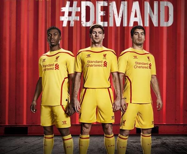 Liverpool Away Kit 2015