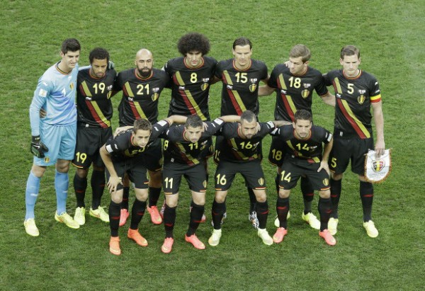 Belgium Line UP World Cup