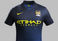 The navy with Etihad's bright yellow logo really makes this kit pop.