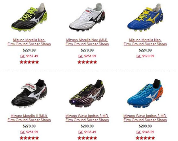 Mizuno Boots on Sale