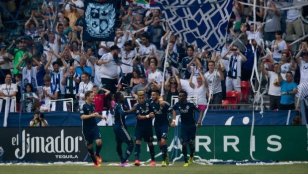 Whitecaps central midfielder Pedro Morales (2nd right) has been occasionally sporting the Adidas F50 CrazyLight boots this season