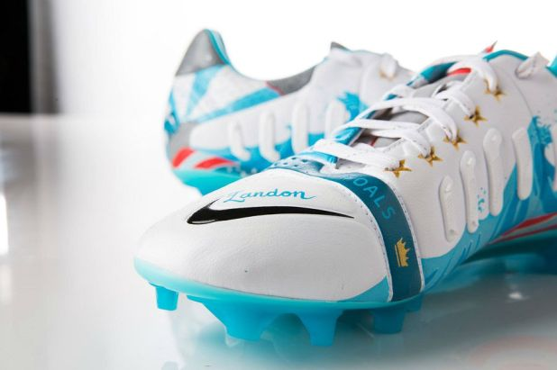 Landon Donovan Painted Soccer Cleats Front View