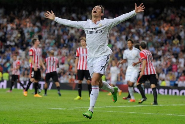 Ronaldo celebrates in Superfly