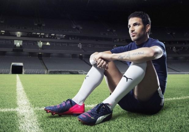 Cesc Fàbregas wears PUMA's new evoPOWER 1.2