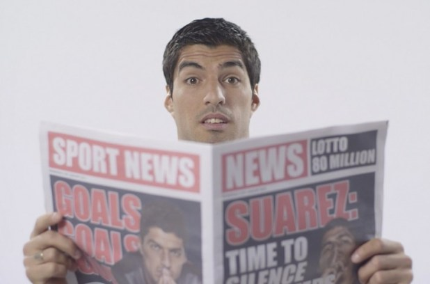 Suarez with new Adidas Ace and X