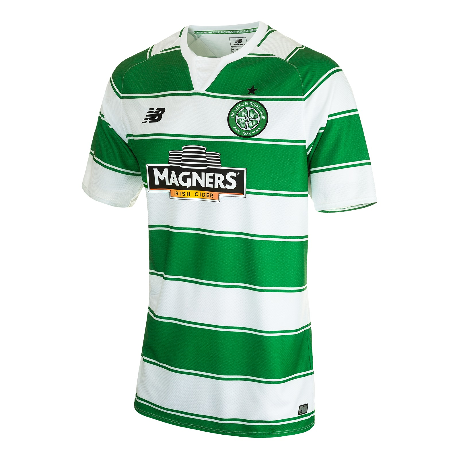 83bdaf2f4 As one would expect New Balance kept with tradition in creating a kit with  green and white hoops. The result is a classy looking offering which any  Celtic ...