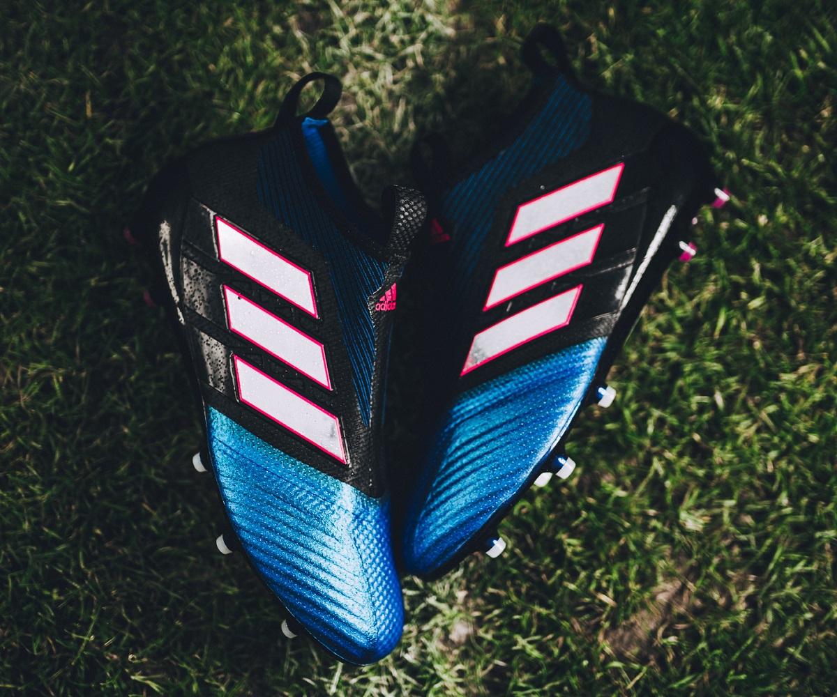 the latest ec37d 6fcaa Purecontrol Blue Blast. Up Close with the Blast Blue adidas Purecontrol