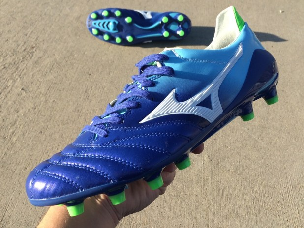 Mizuno Morelia Neo MIJ Blue Up Close