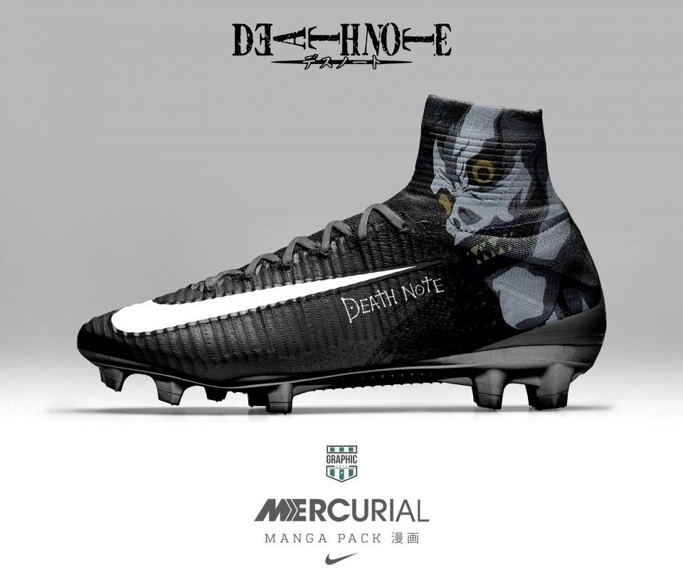 Got a favorite design from this Manga pack? Let us know which pair you'd  pick. Nike Mercurial Manga DeathNote