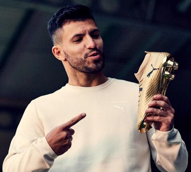 Aguero With Puma ONE Gold