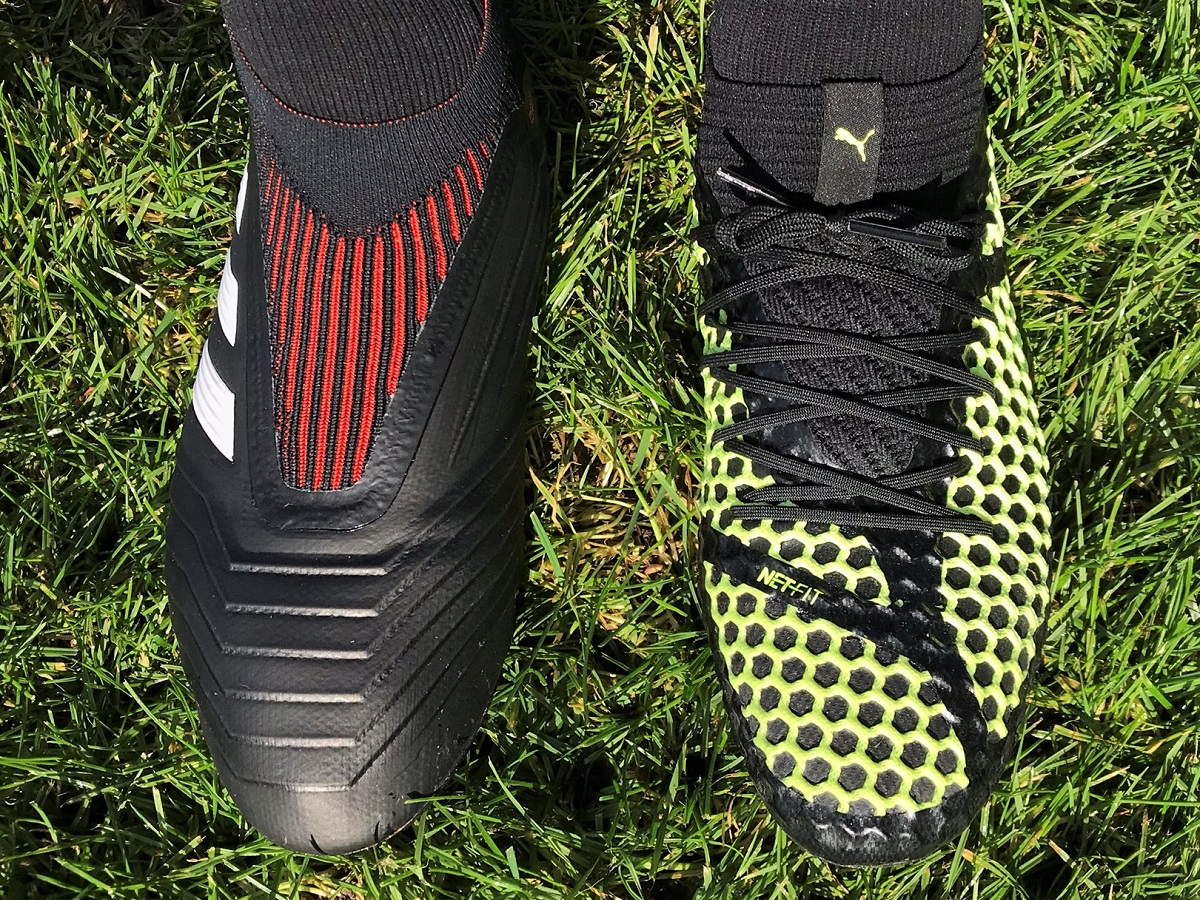 5a6c87556bc9 ... fit thanks to the inclusion of NETFIT technology. It allows the wearer  to lace their boots any way they want. adidas Predator vs Puma NetFit