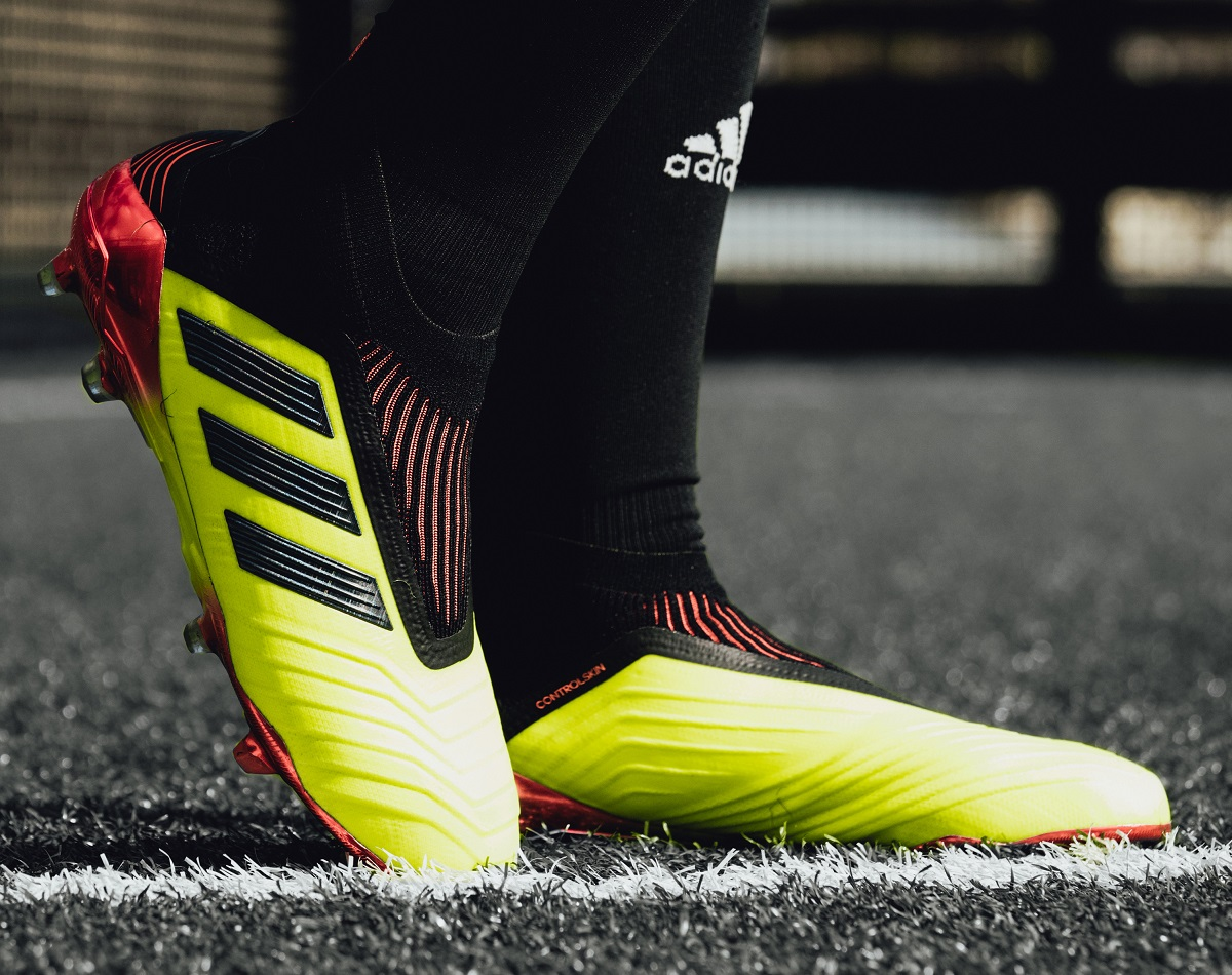 ec6391050b15 adidas Predator 18+ Energy Mode. The cleat also includes a Primeknit  Sockfit Collar to ensure a supportive and comfortable fit ...