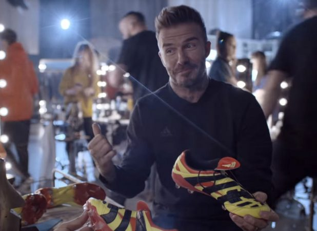 David Beckham with adidas Predator Accelerator Remake